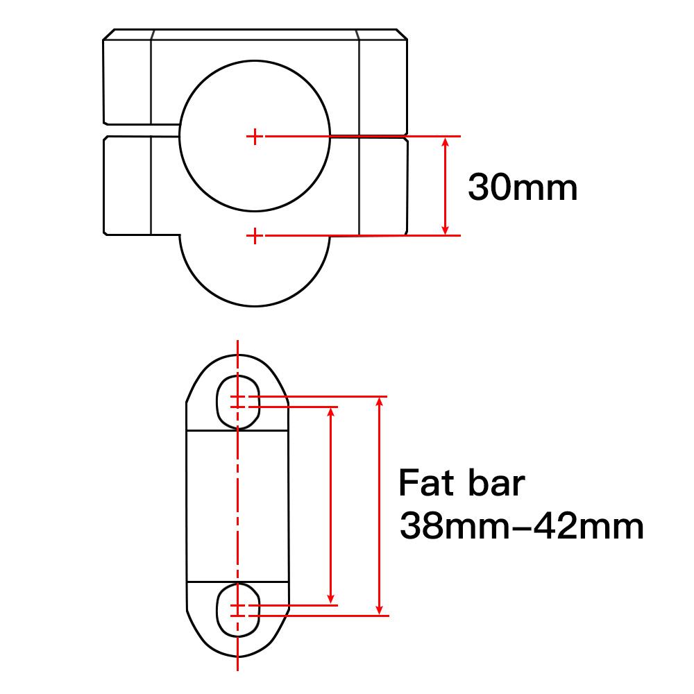 handlebar riser for suzuki rm125 rm250 rmz250 rmz450