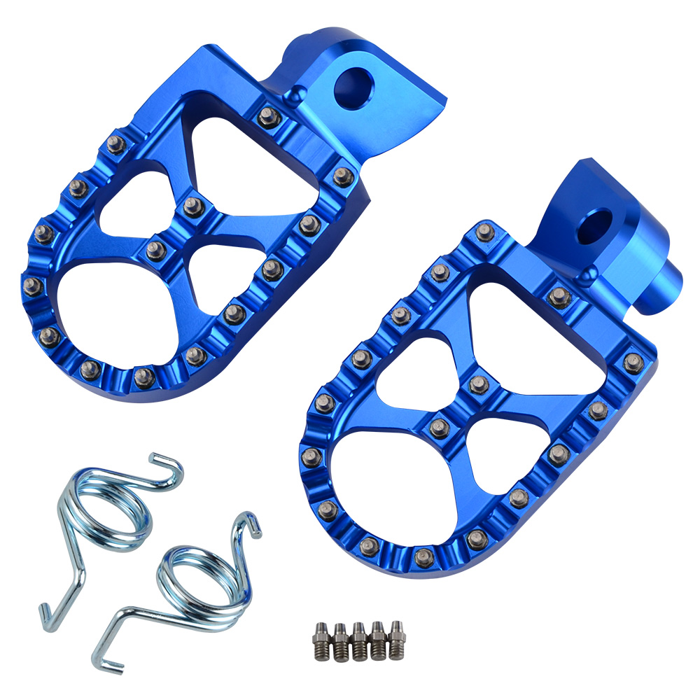 Foot Pegs Rest Pedal Compatible with Yamaha YZ125 1997-2017// YZ250 1998-2020// YZ85 2002-2019// YZ250F 2001-2019// YZ450F Foot Rest